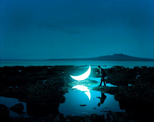 Leonid_Tishkov_Volcano_Rangitoto_New_Zealand_From_serie_Private_Moon_2010_light_box__